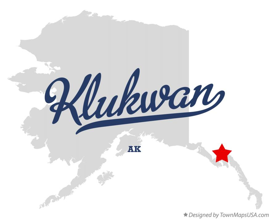 Map of Klukwan Alaska AK