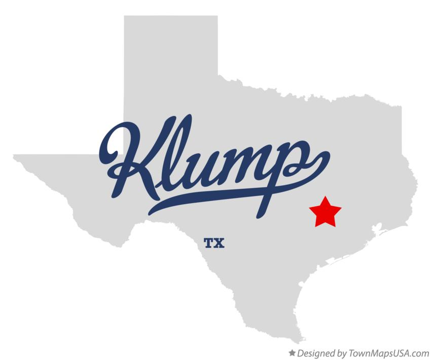 Map of Klump Texas TX
