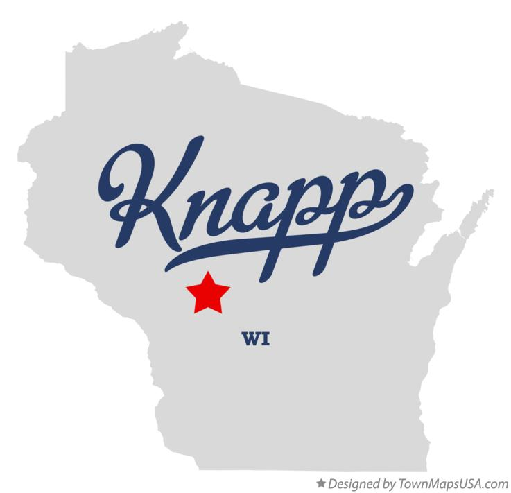 Map of Knapp Wisconsin WI