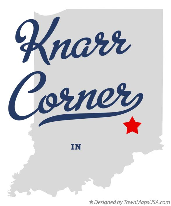 Map of Knarr Corner Indiana IN
