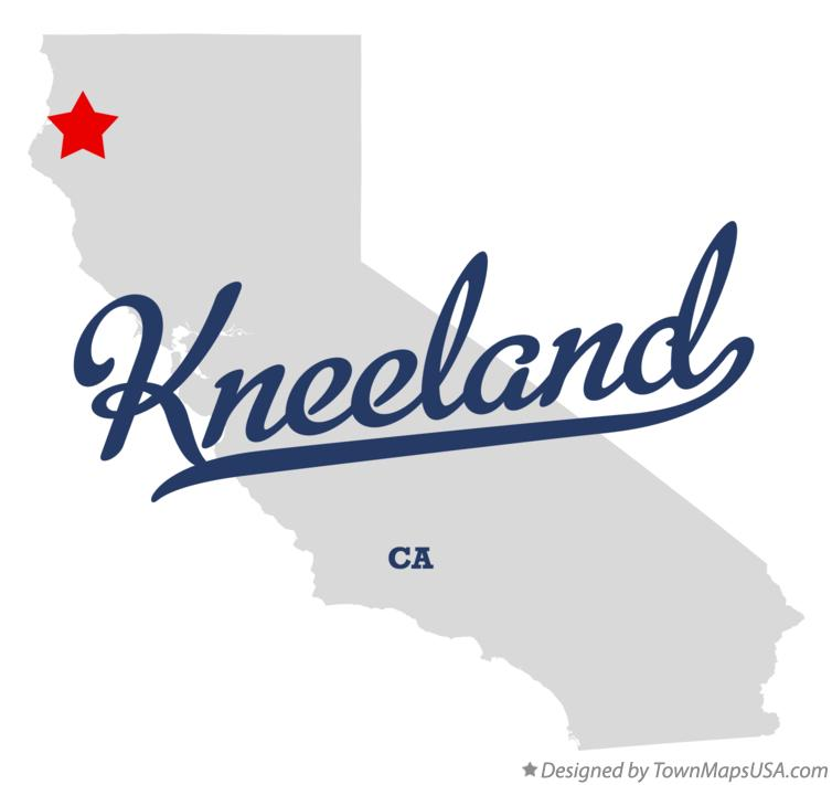 Map of Kneeland California CA