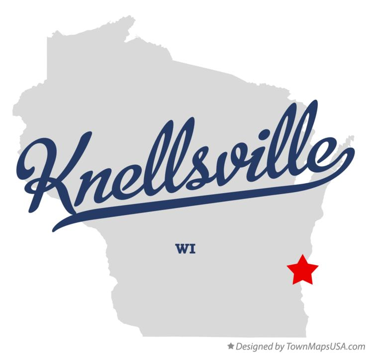 Map of Knellsville Wisconsin WI