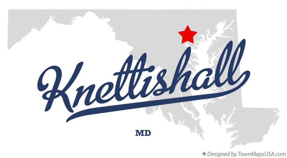 Map of Knettishall Maryland MD