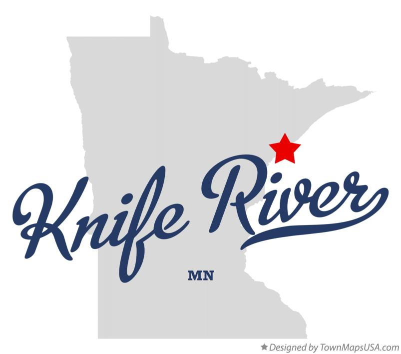 Map of Knife River Minnesota MN