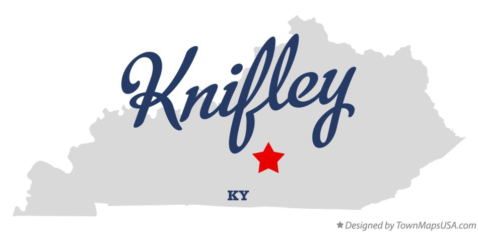 Map of Knifley Kentucky KY
