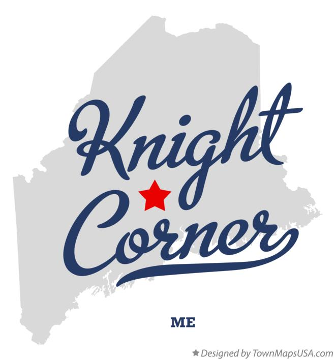 Map of Knight Corner Maine ME