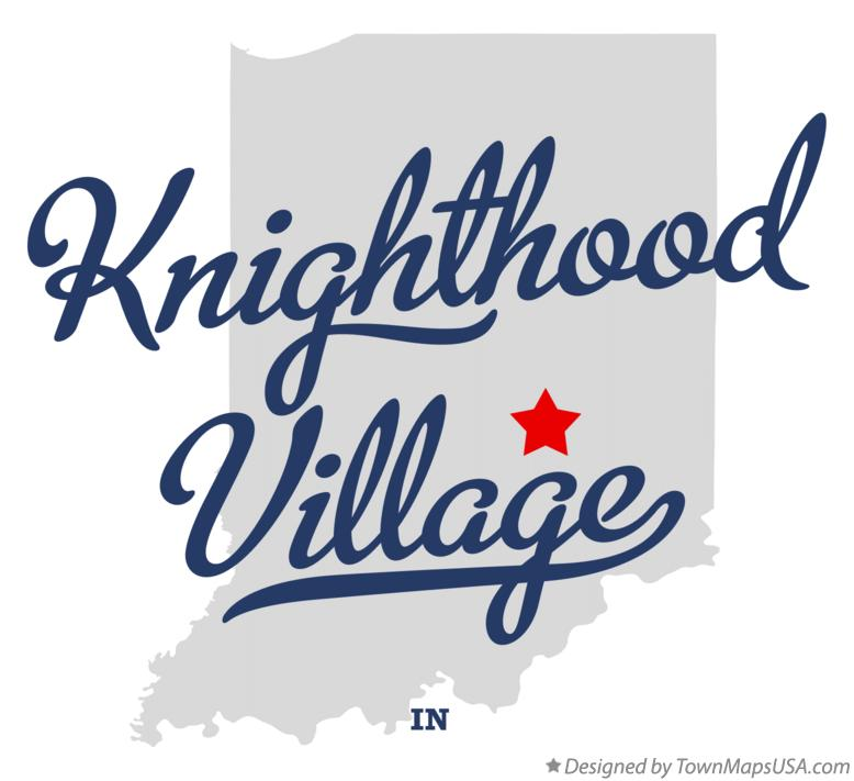 Map of Knighthood Village Indiana IN