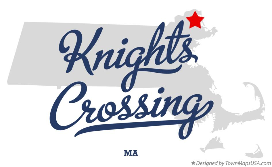 Map of Knights Crossing Massachusetts MA