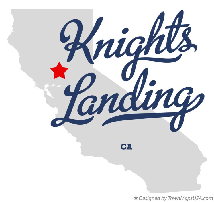 Map of Knights Landing California CA