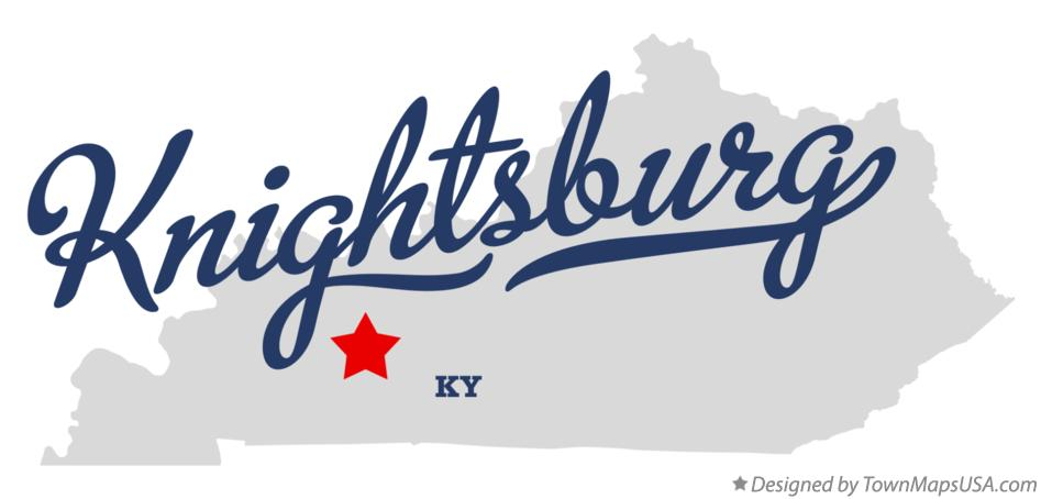 Map of Knightsburg Kentucky KY