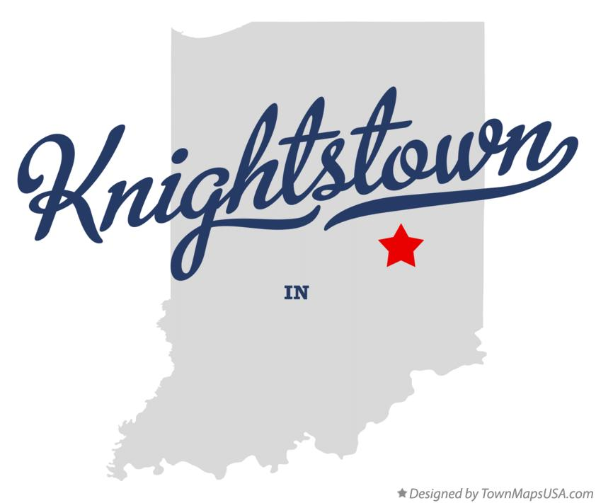 Map of Knightstown Indiana IN
