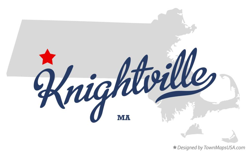 Map of Knightville Massachusetts MA