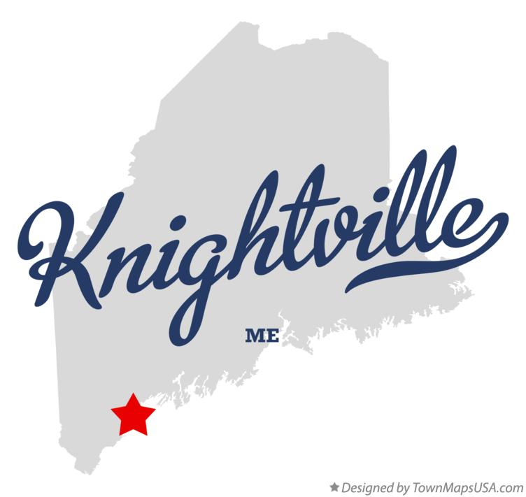 Map of Knightville Maine ME
