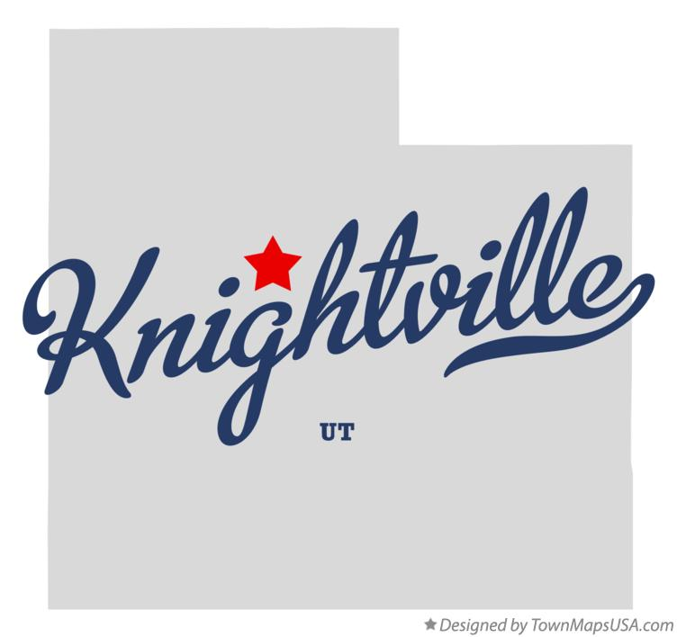 Map of Knightville Utah UT