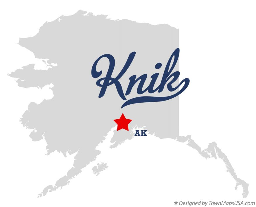 Map of Knik Alaska AK