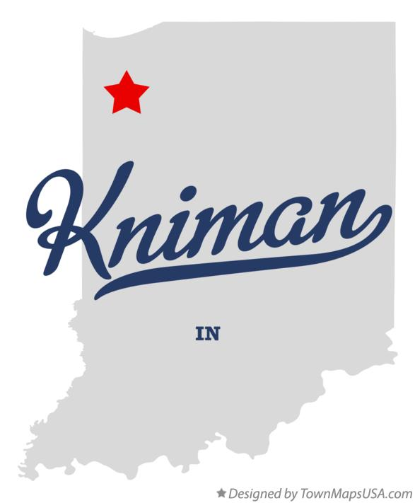 Map of Kniman Indiana IN