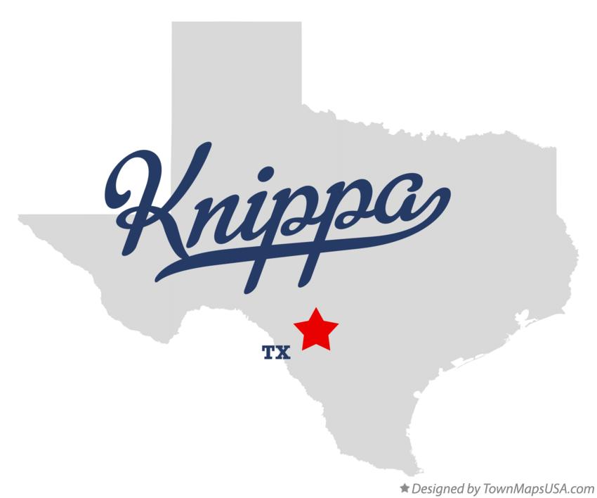 Map of Knippa Texas TX
