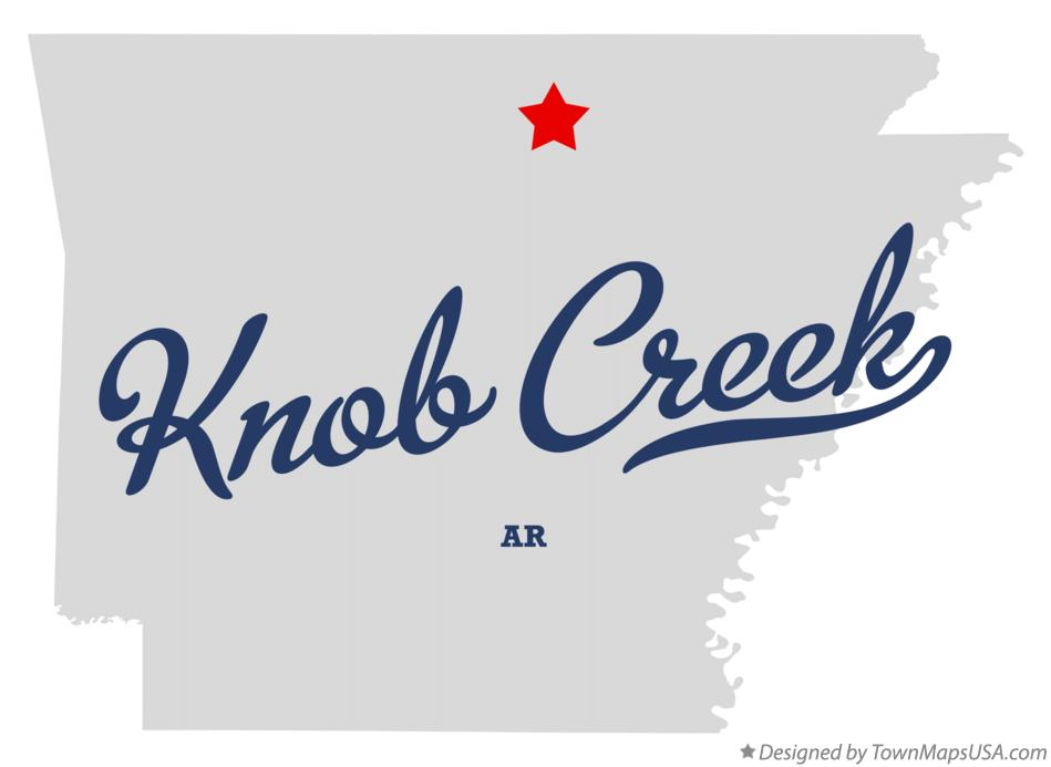 Map of Knob Creek Arkansas AR