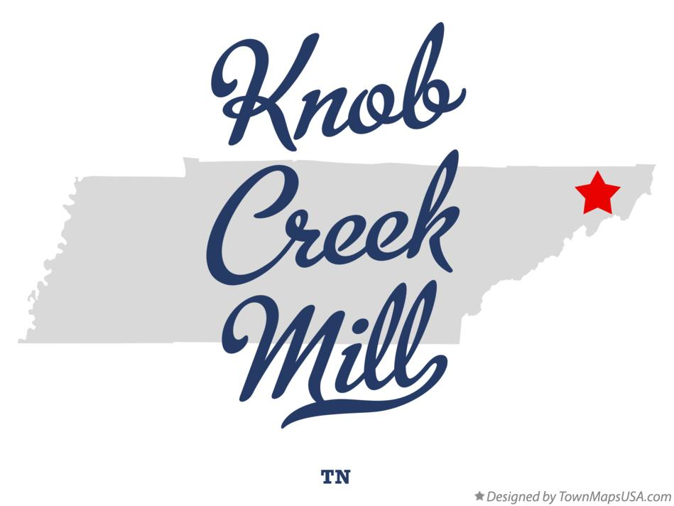 Map of Knob Creek Mill Tennessee TN