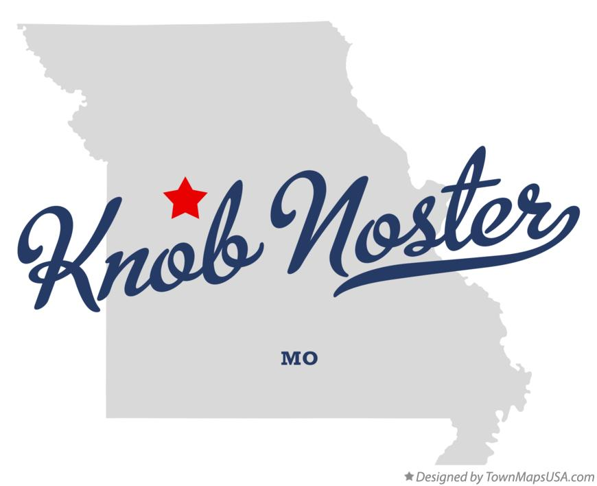 Map of Knob Noster Missouri MO