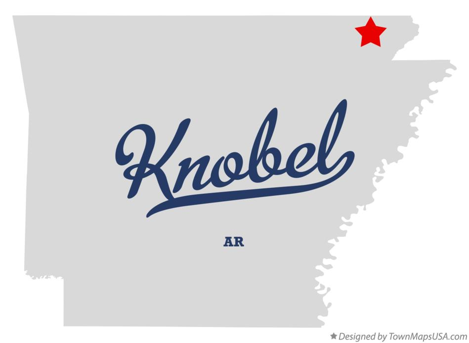 Map of Knobel Arkansas AR