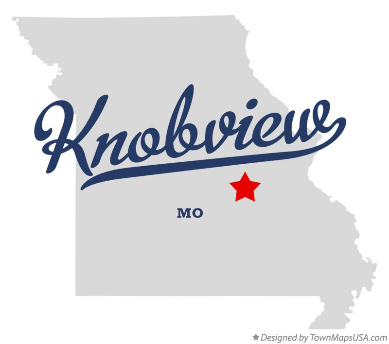 Map of Knobview Missouri MO