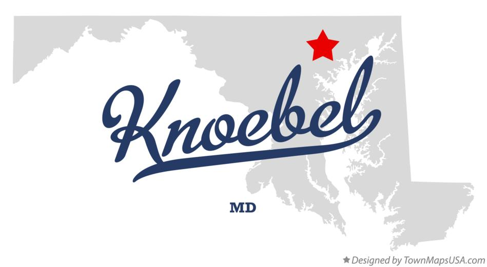 Map of Knoebel Maryland MD
