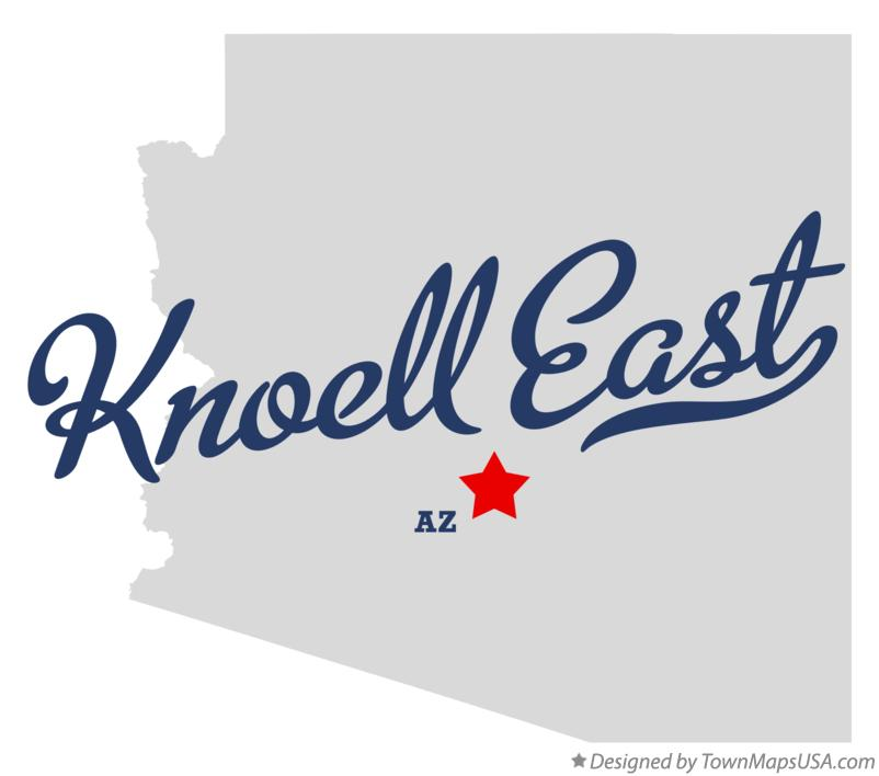 Map of Knoell East Arizona AZ