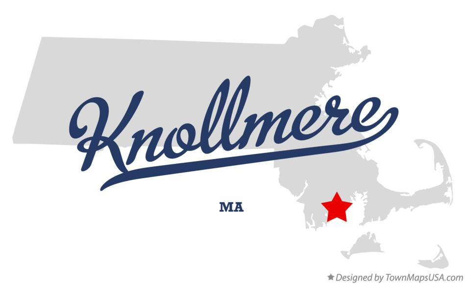 Map of Knollmere Massachusetts MA