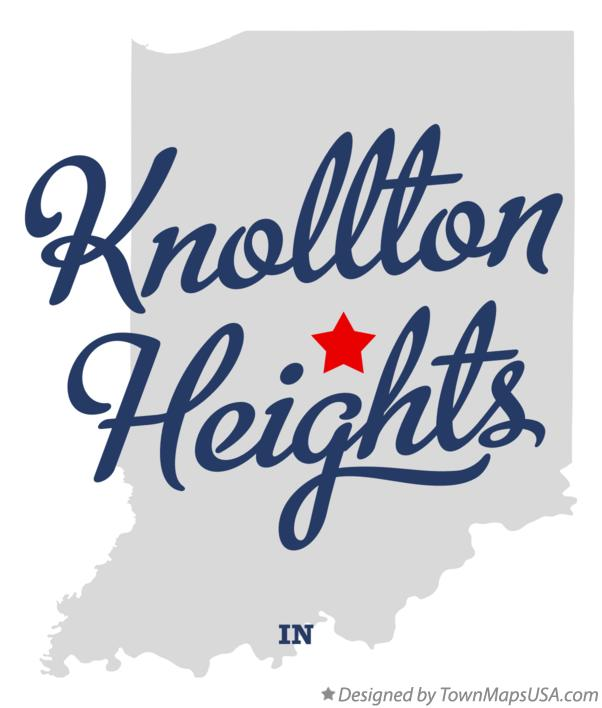 Map of Knollton Heights Indiana IN