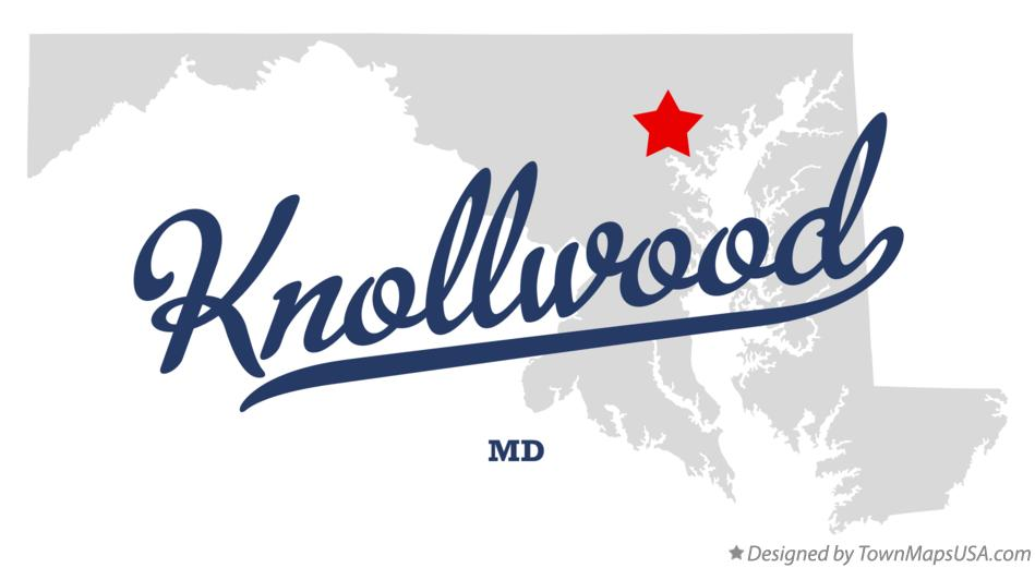 Map of Knollwood Maryland MD