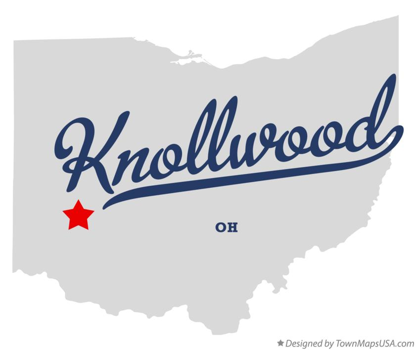 Map of Knollwood Ohio OH