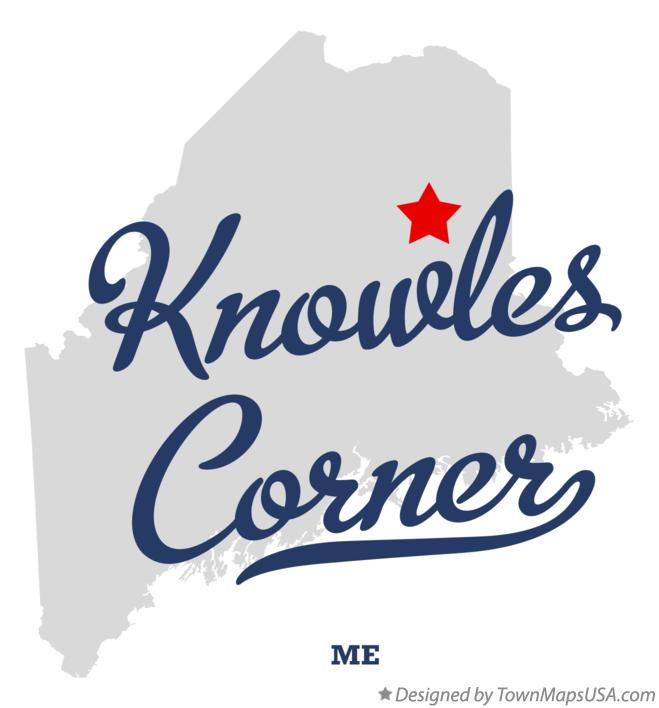 Map of Knowles Corner Maine ME