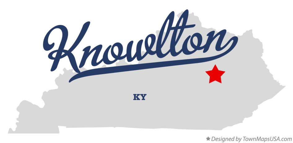 Map of Knowlton Kentucky KY