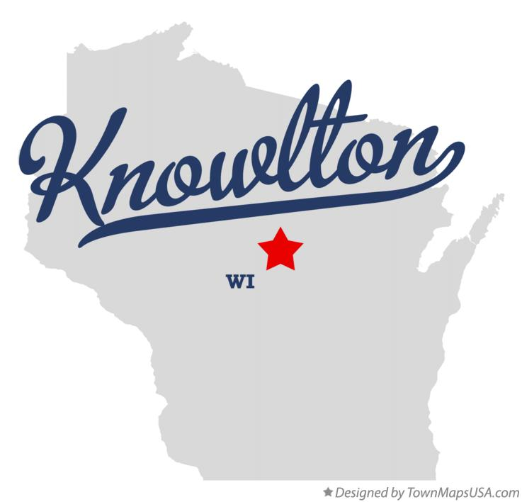 Map of Knowlton Wisconsin WI