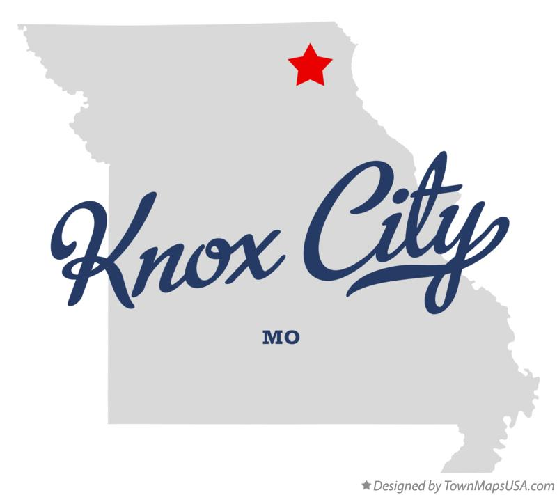 Map of Knox City Missouri MO