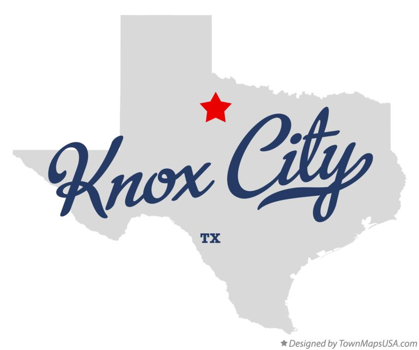 Map of Knox City Texas TX