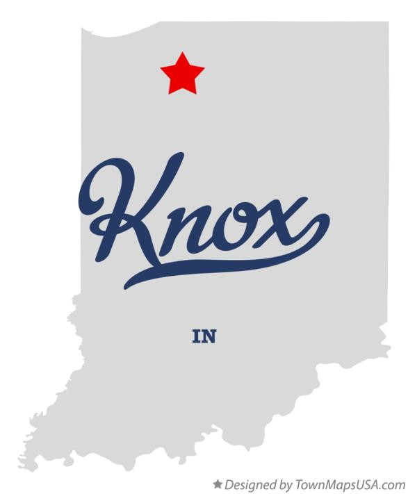 Map of Knox Indiana IN