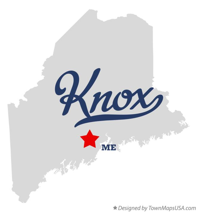 Map of Knox Maine ME