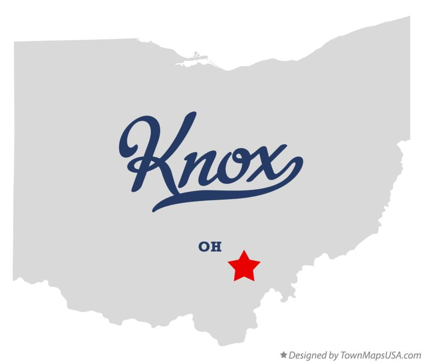 Map of Knox Ohio OH