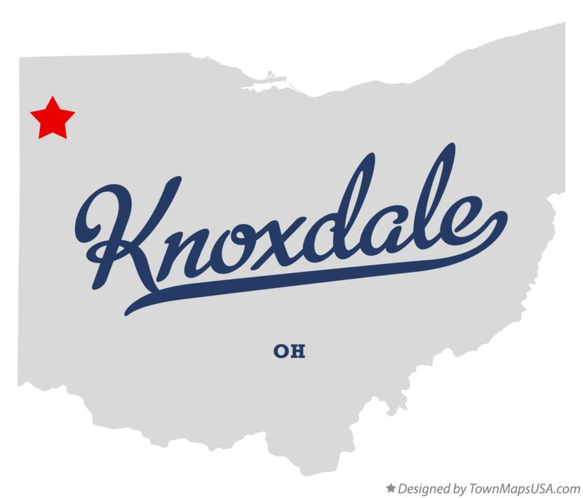 Map of Knoxdale Ohio OH