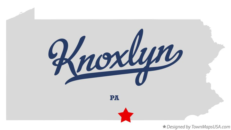 Map of Knoxlyn Pennsylvania PA
