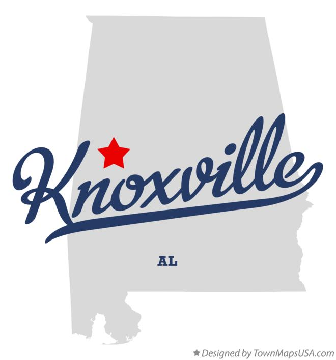 Map of Knoxville Alabama AL