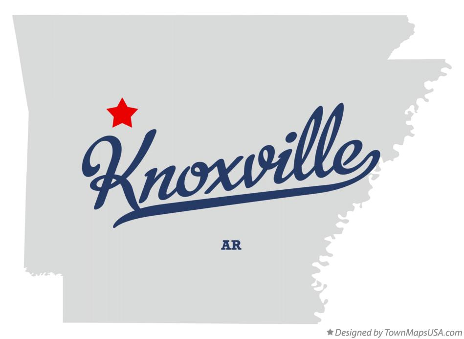Map of Knoxville Arkansas AR