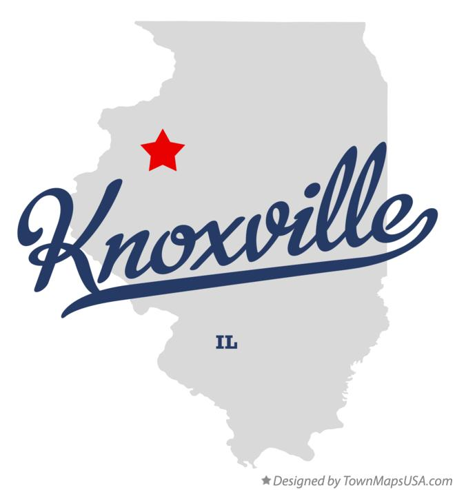 Map of Knoxville Illinois IL
