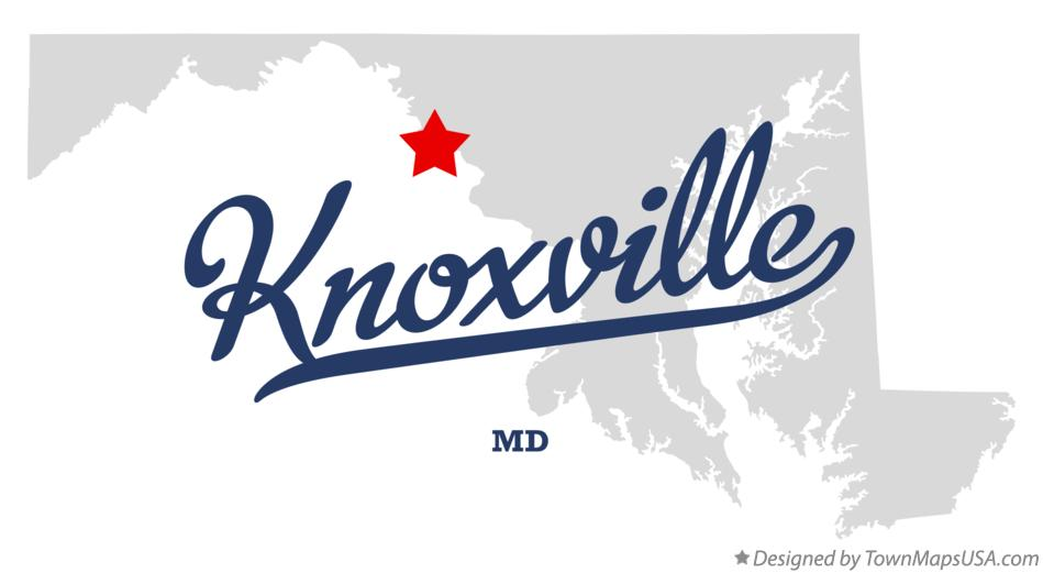 Map of Knoxville Maryland MD