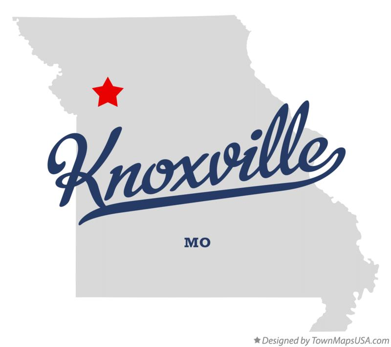 Map of Knoxville Missouri MO