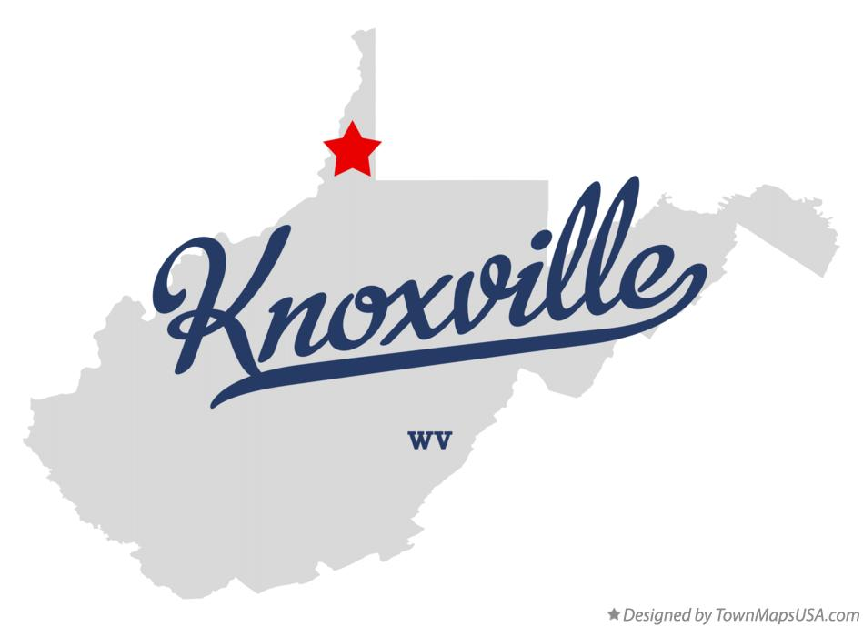 Map of Knoxville West Virginia WV