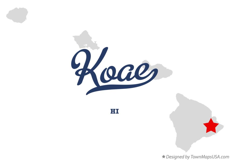 Map of Koae Hawaii HI