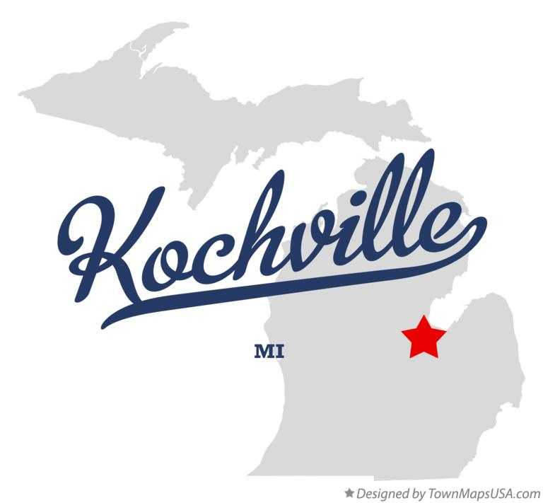 Map of Kochville Michigan MI